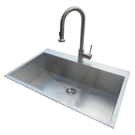 steel kitchen sinks shop american standard 20 single basin drop in or