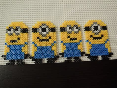 minion hama bead patterns perler bead minions so evil crafts and arts