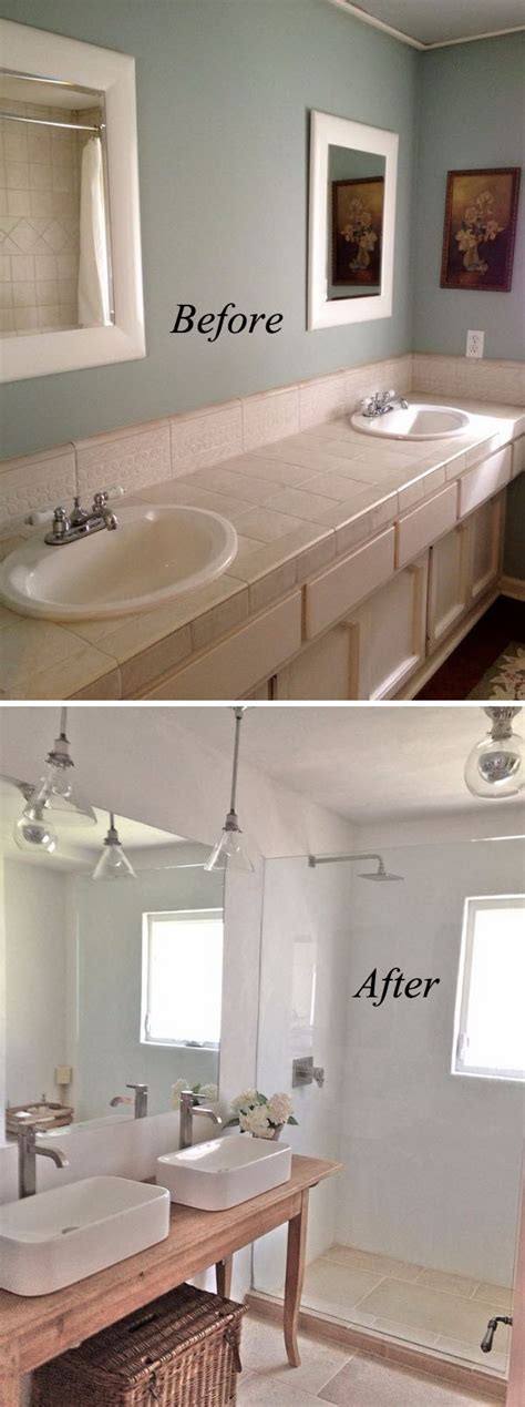 Before And After Small Bathroom Makeovers by 37 Small Bathroom Makeovers Before And After Pics Home