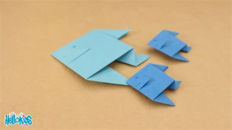 origami fishing boat how to craft origami fish 2 hellokids