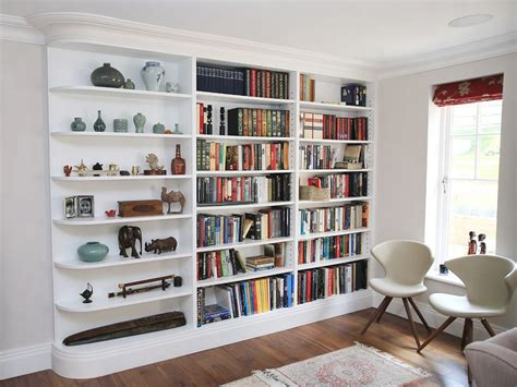 white bookshelves built in bookcases ideas for small space