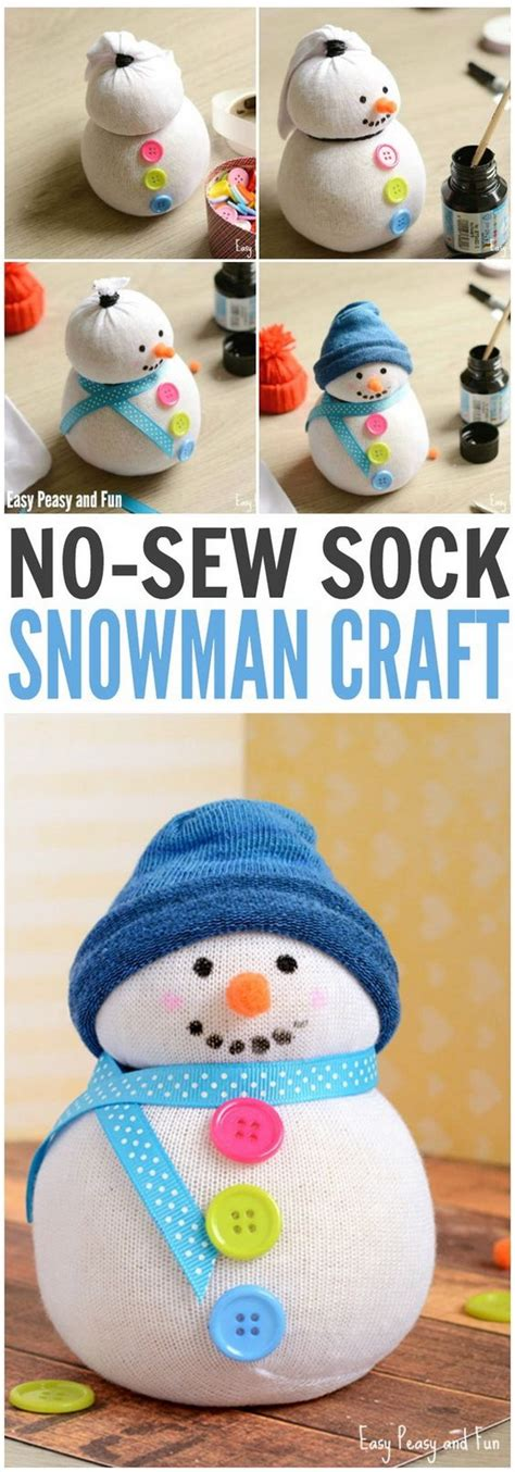 no sew craft projects creative and ways to make snowman crafts listing more