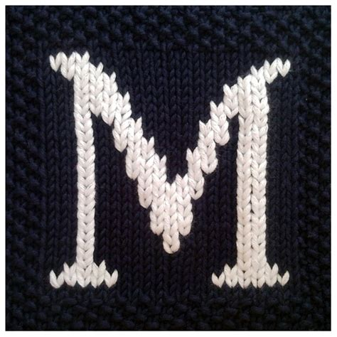 how to knit letters pdf knitting pattern capital letter m afghan by fionakelly