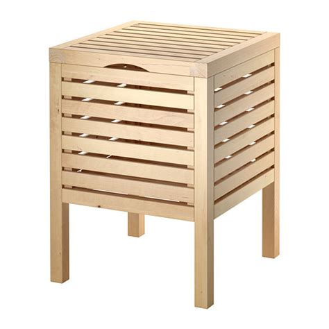 storage stool bathroom molger storage stool birch ikea