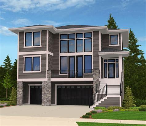 house plans for sloping lots modern house plan for front sloping lot 85102ms 2nd floor master suite bonus room butler