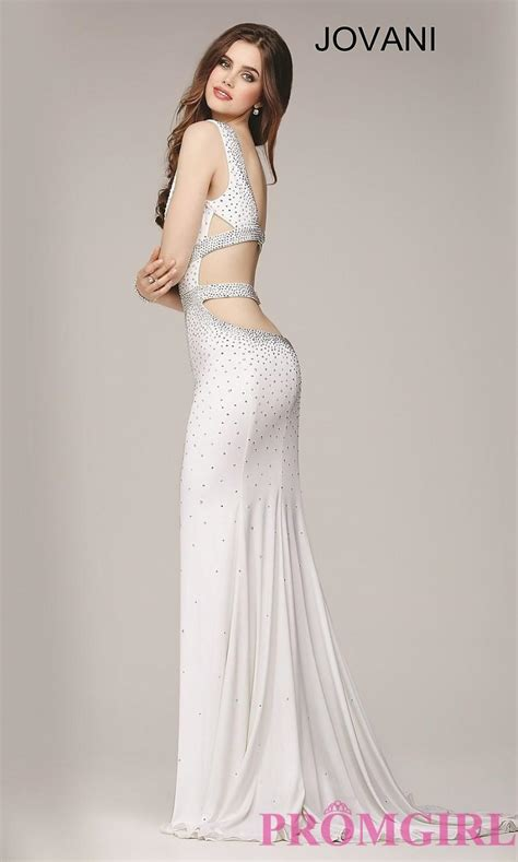 cheap beaded prom dresses low v neck beaded jovani prom dress discount evening