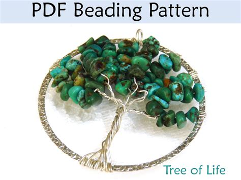 beaded wire tree tutorial bead pattern tutorial pendent wire working simple bead