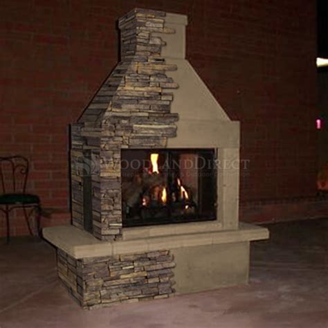 prefab outdoor fireplace wood burning mirage 3 sided wood burning outdoor fireplace
