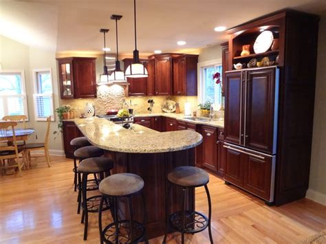 two tier kitchen island buffalo grove kitchen with 2 tier island traditional kitchen chicago by trilogy kitchens