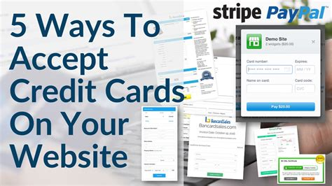 how to make a website that accepts credit cards accept credit card payments on your website 5 ways