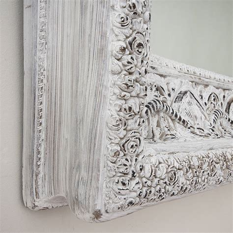 large shabby chic mirror white carved white shabby chic mirror by decorative mirrors