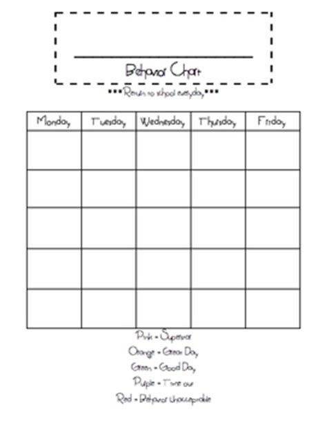 Exle Of Behavior Modification Chart by This Is A Blank Behavior Chart Freebie Just Fill In The