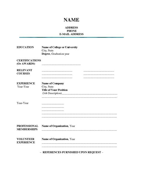 printable cv templates sample word doc blank resume