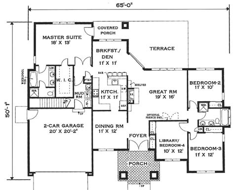 floor plans for one story homes one story home 6994 4 bedrooms and 2 5 baths