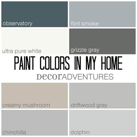 paint colors driftwood paint colors in my home free printable