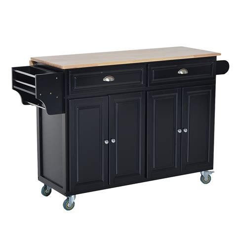 kitchen island rolling cart homcom modern rolling storage cart with wood top kitchen island kitchen carts kitchen