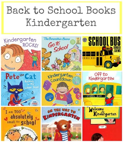 picture books for kindergarten back to school books for