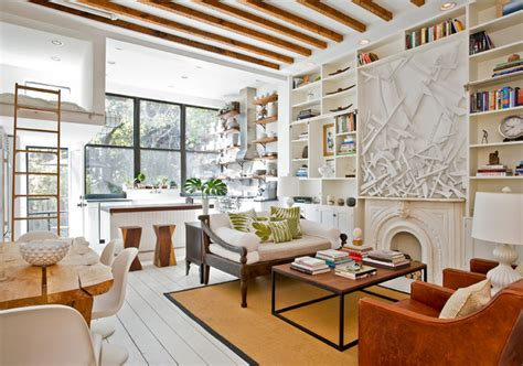 Island Light Fixtures by Sunny Park Slope Townhouse Gets An Artsy Makeover From The