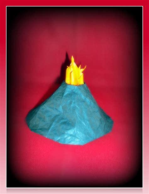 how to make a origami volcano lua pele origami volcano by suki origami on deviantart