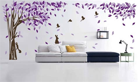 large wall stickers for living room living room black tree and birds living room wall murals
