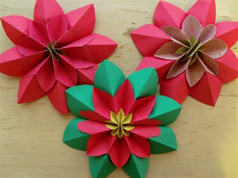 how to make flower origami how to fold a poinsettia flower origami
