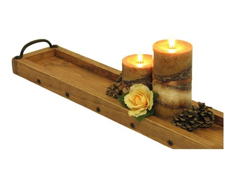 Candle Tray by Tray Candle Tray Centerpiece Tray Wooden Candle
