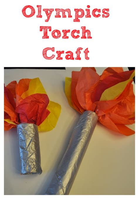 olympic crafts for olympics torch craft for torches and olympics
