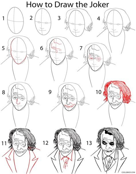 how to draw step by step how to draw the joker step by step pictures cool2bkids