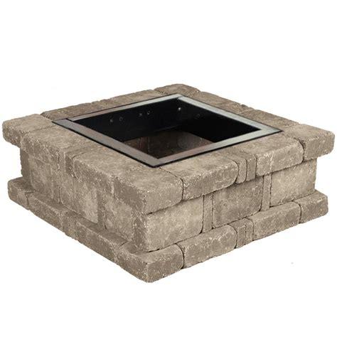 pit kit pavestone rumblestone 38 5 in x 14 in square concrete
