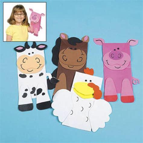 paper bag puppet craft cheap farm animal puppet paper bag craft kits 1 dz
