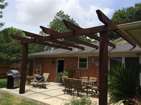 attaching pergola to roof pergola attached to roof projects