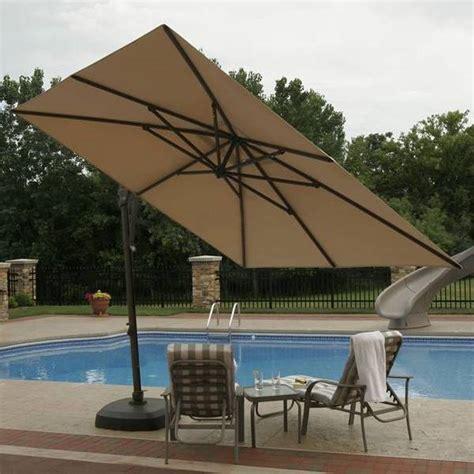 patio furniture umbrellas santorini cantilever umbrella side post patio umbrellas