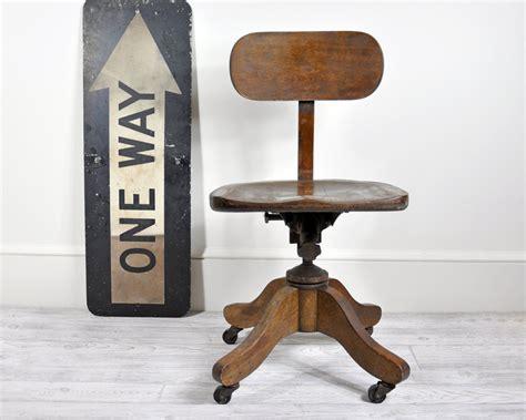swivel wood desk chair vintage wood office swivel chair desk chair office decor