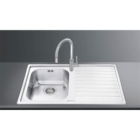 smeg ll116s 2 kitchen sink smeg ll861d 2 kitchen sink 1 bowl brushed stainless steel