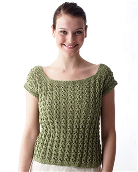 free knitted top patterns eyelet top knitting pattern favecrafts