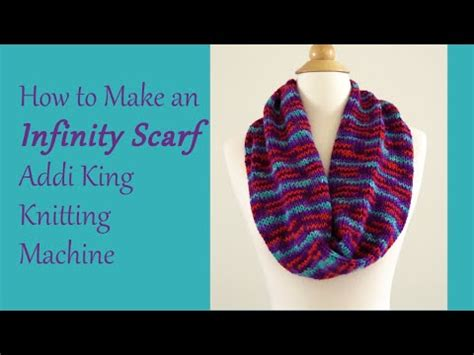 how to fix knitting how to make an infinity scarf addi king knitting machine