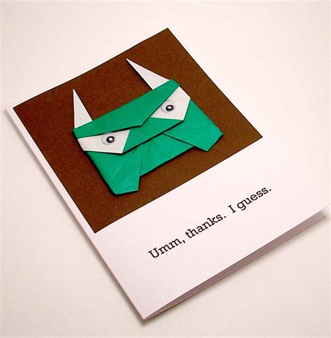thank you origami origami troll thank you card a photo on flickriver