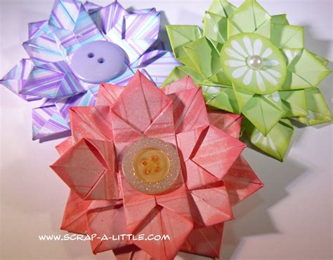origami paper flower tutorial the handmade flower paper flowers
