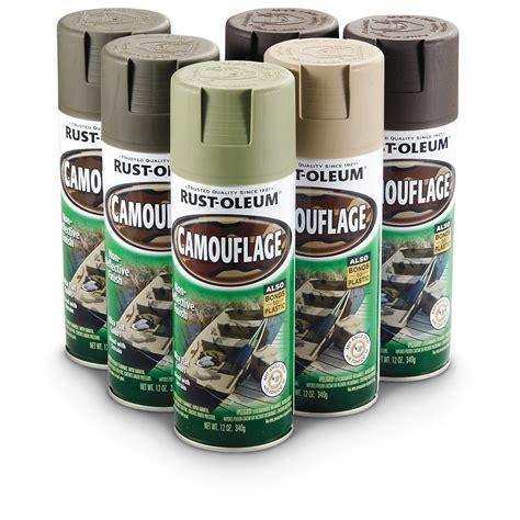 spray paint kit rust oleum 269038 camouflage spray paint 6 pack kit ebay