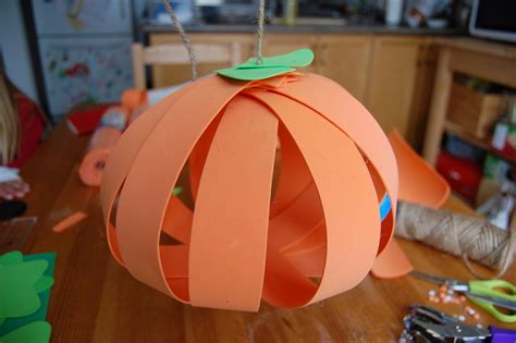 paper pumpkin crafts for a twist on the paper pumpkin craft northstory