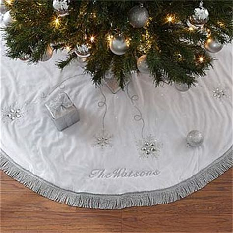 embroidered tree skirts personalized tree skirt season s sparkle