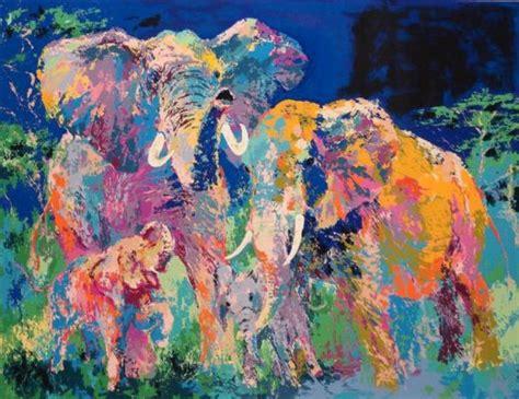 paint with a twist elephant leroy neiman elephant family paintings leroy neiman