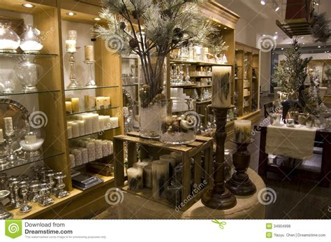 home stores gifts home decor store stock photo image of lighting shelves
