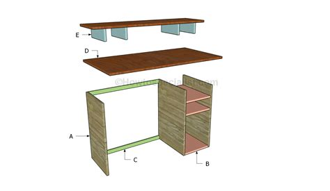 building computer desk build a computer desk plans discover woodworking projects