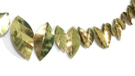 silver and gold garland gold metallic leaf garland silver and gold