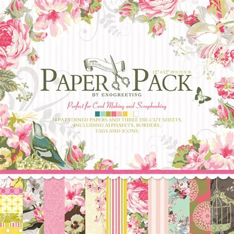 floral craft paper 12 x12 paper pack vintage flowers scrapbooking craft paper