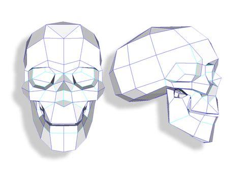 paper craft skull papercraft skull 1 joshua harker