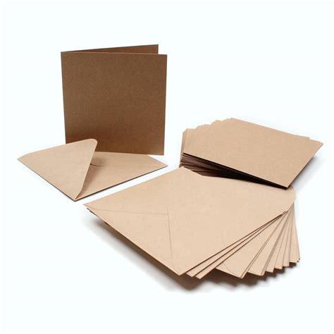 cheap card supplies uk kraft card and envelope 15 x 15 cm 30 pack hobbycraft