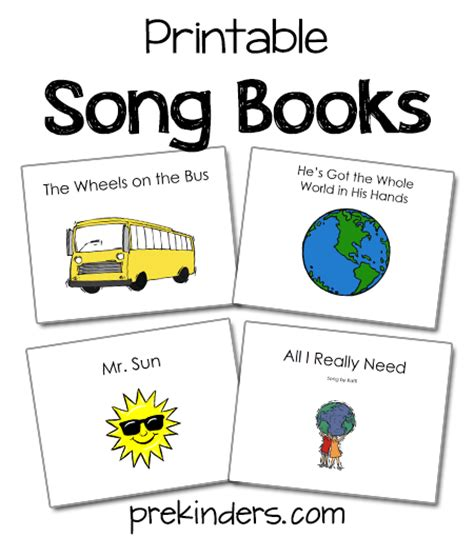 print picture books song books prekinders