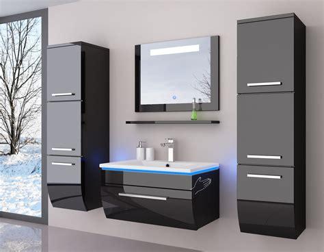 Badezimmermöbel Designklassiker badm 246 bel set schwarz weiss hochglanz badezimmerm 246 bel
